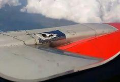 Reparan fuselaje de avión VivaAerobus ¡Con cinta!