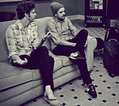 Matthew and Matthew (Hoopes and Thiessen) from Relient K! Wonder if John and John are right nearby? And Dav-- Ethan.