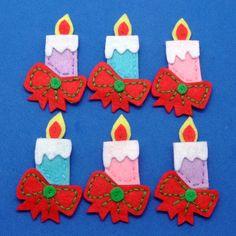 felt christmas candles