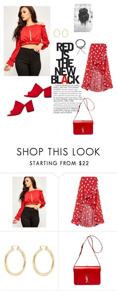 """""""Red is the new Black"""" by wearall ❤ liked on Polyvore featuring WearAll, Caroline Constas, Isabel Marant and Yves Saint Laurent"""