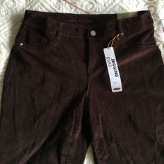 """Corduroy - jegging Cord Flex 31 1/2 inseam - 43"""" out seam - chocolate brown Maurices Pants Leggings"""