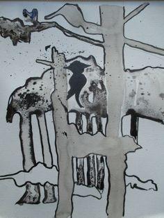 Nieuwe tekeningen in inkt voor vriend en dichter Dick Gebuys. Hij schreef gedichten over Auschwitz en samen met mijn illustraties wordt deze samenwerking in boekvorm gepubliceerd. Naar  verwachting verkrijgbaar in de betere boekhandel vanaf mei 2018!