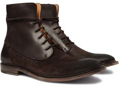 Maison Martin Margiela Waxed Suede & Leather Boots