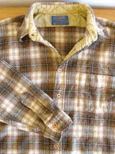 Men's Vintage Wool Plaid Pendleton Shirt by MarketHome on Etsy, $28.00