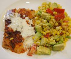 "Blackened Cod with Corn ""Salad"" Avocado Salad, Cobb Salad, Garlic Aioli, Corn Salsa, Meal Delivery Service, Summer Bbq, Plated Reviews, Cod, Change"