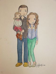 Custom / Personalized Portrait for any occasion. $45.00, via Etsy.