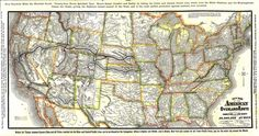 """1881 """"Overland Route"""" Timetable & Transcontinental Railroad Map, 1881"""