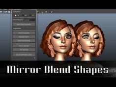 Mirror Blend Shape Script - YouTube