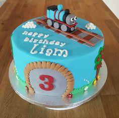Thomas Tank Engine theme birthday cake