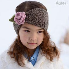 CROCHET PATTERN Cottage Rose Warmer crochet headwrap