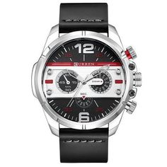 CURREN Watches Men Luxury Brand Army Military Watch Leather Sports Watches Quartz Men Waterproof Wristwatches Male Clock Silver Men's Watch Affordable Cheap Fashion Products Website