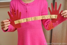cute kids crafts for Mother's Day or Father's Day
