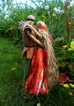 Pagan Handfasting Gift. Sun God Lugh & Goddess Jute Altar Figures. Hand crafted. on Etsy, £22.00