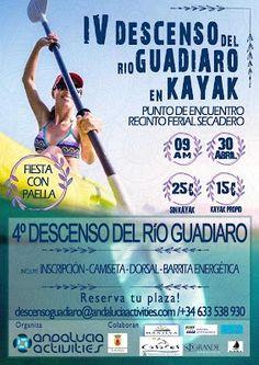 El IV Descenso del Rio Guadiaro en kayak de Secadero a Sotogrande se celebrará el 30 de abril