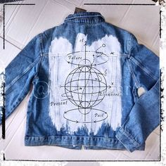 A stylish and fashionable jeans jacket will set you apart from the crowd. You can order any slogan, text, inscription.