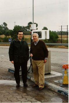Con Juan Perucho, regresando de Albinyana, febrero  de 1990.