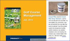 Keeping golfers safe from trips on the cart path! Golf Course Superintendents Assoc of America's Magazine highlights Crack Stix! Golfers, Concrete, Golf Courses, Trips, Highlights, Cart, How To Apply, Magazine, Viajes