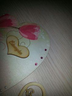 Swarovski kristállyal díszített szívecske anyák napjára ♡