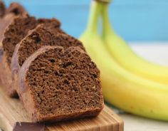 Chocolate Banana Peanut Butter Bread - A moist, chocolaty bread, chock full of bananas with a hint of peanut butter.