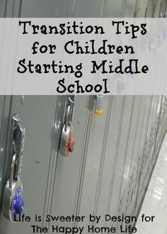 Transition tips for children starting middle school are more important than many parents are aware of. Learn the reasons why here.