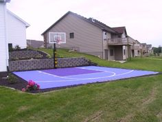 Basketball Court On Pinterest Backyard Basketball Court