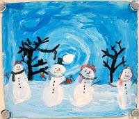 Art with ms. gram: winter value landscapes grade art projects тво Snowmen At Night, 2nd Grade Art, Grade 2, Snowman Party, Winter Art Projects, Art Gallery, Art Nouveau, Christmas Art, Winter Christmas