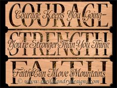 Courage, Strength & Faith Pattern Set