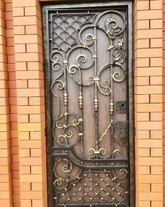 Steel door design modern 46 Ideas for 2019 Metal Garden Gates, Metal Gates, Wrought Iron Doors, Iron Gate Design, Window Grill Design, Modern Door, Modern Barn, Iron Art, Steel Doors