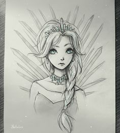Ice Queen by natalico on DeviantArt Girly Drawings, Anime Drawings Sketches, Cool Art Drawings, Disney Drawings, Queen Drawing, Character Art, Character Design, Ice Queen, Snow Queen