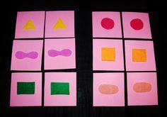 hmatové pexeso Skupina - Montessori vzdělávání