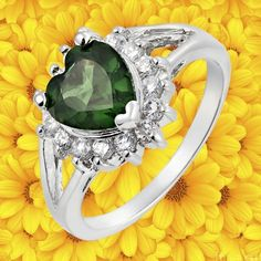 'HEART CUT GREEN EMERALD GP RING SIZE 6' is going up for auction at  4pm Wed, Jul 18 with a starting bid of $5.