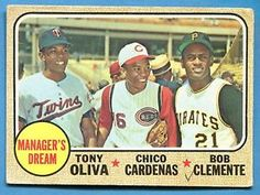1968 clemente   Details about ROBERTO CLEMENTE ~ 1968 Topps Baseball Card #480 ~ Grade ...