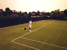 Twitter  - wimbledon - Marin Cilic one of the many familiar faces on the practice courts today #Wimbledon - 19 June 2013