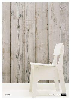 PHE-07 Scrapwood Wallpaper by Piet Hein Eek   NLXL under chair rail in hallway bath
