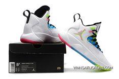 f03062482cb3b6 Nike Jordan Super.Fly MVP Quai 54 Mens Basketball Shoes White Multi-Color  Best