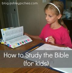How to Study the Bible (for kids).  An overview of how this family uses Grapevine Bible studies.  blog.ashleypichea.com