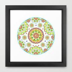 Kristofers Mandala Framed Art Print by Patricia Shea Designs