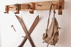 Coat rack for Austrian woodworkers and ski enthusiasts :-D Austria, Skiing, Lamps, Boards, Woodworking, Tools, Friends, Instagram, Coat