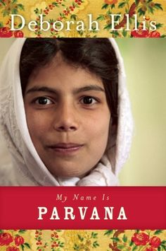 """My Name Is Parvana by Deborah Ellis.   """"On a military base in Afghanistan,  authorities have just imprisoned a girl found in a bombed-out school. The girl does not respond to questions in any language and remains silent, even when she is threatened, harassed and mistreated over several days. The only clue to her identity is a tattered shoulder bag containing papers that refer to people named Shauzia, Nooria, Leila, Asif, Hassan and Parvana.""""-From the publisher"""