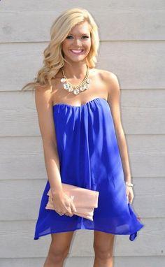 Darling Dress in Royal Blue.