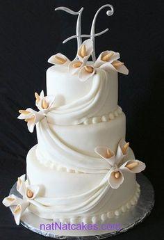 simple elagant wedding cakes | simple elegant wedding cake | Yelp  yellow roses instead of these flowers