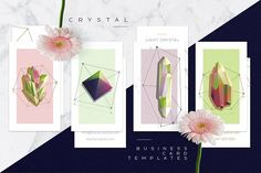 RYSTAL BUSINESS CARD COLLECTION Mockups are not included Crystal business card collection contains 4 colorful and trendy business card templates with beautiful gemstone crystals. Cool Business Cards, Business Card Logo, Business Card Design, Creative Business, Business Illustration, Pencil Illustration, Flower Illustrations, Card Templates, Design Templates