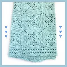 Crochet Blanket Pattern – Arielle's Square – Baby Blanket – Easy Granny Square – Crochet Throw Afghan – Pattern by Deborah O'Leary Patterns This listing is for a CROCHET PATTERN – Arielles Square Blanket. Motifs Afghans, Afghan Crochet Patterns, Crocheted Baby Afghans, Baby Patterns, Granny Square Crochet Pattern, Crochet Squares, Crochet Square Blanket, Point Granny Au Crochet, Granny Square Häkelanleitung