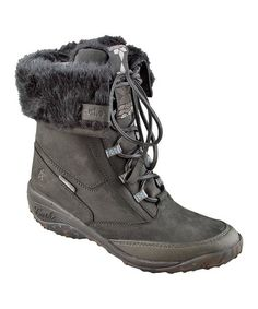 This Black Allpine Cone Waterproof Leather Boot by Cushe is perfect! #zulilyfinds