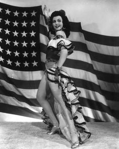 Ann Miller lends an extra hit of cha-cha-cha to her 4th of July celebration.