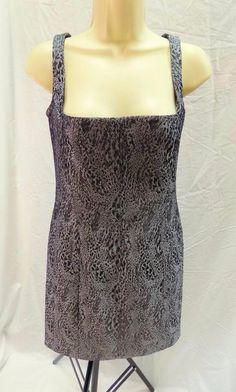 PS Peter Soronen Brocade Lace Grey Sleeveless Cocktail Dress 8 #PSPeterSoronen