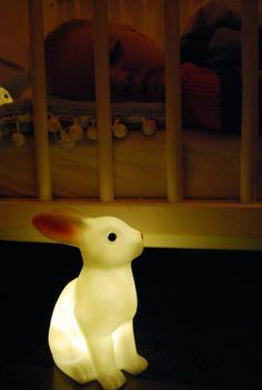 Małe Wilczki / Lifestyle / Fotografia / Moda / Gadżety / Inspiracje - Woodland rabbit night light by Dotcomgiftshop