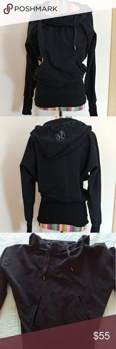 Lululemon Athletica hoodie Lululemon Athletica hoodie. Has pockets and drawstring hood. Used and in good condition. Size 10 lululemon athletica Tops Sweatshirts & Hoodies