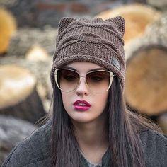 Шапка с кошачьими ушками (82 фото): модные зимние норковые шапки с ушками киски