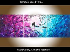 Hey, I found this really awesome Etsy listing at https://www.etsy.com/listing/203088923/love-birds-acrylic-painting-wall-decor